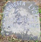 Grave marker of Henrietta Green Lyon