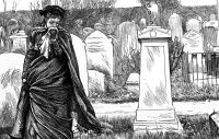 Stock sketch of Early 20th century mourner