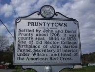 Pruntytown historic marker