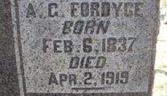 A. G. Fordyce Headstone Inscription
