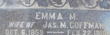 Emma M. Coffman inscription