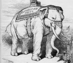 Cartoon Elephant emblem of the Republican Party which Edwin Maxwell was a member of