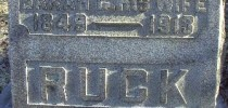 Sarah G. Ruck Inscription
