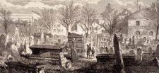 Stock image of cemetery