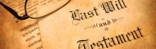 Stock image of last will and testament