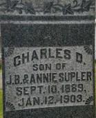 Inscription of Charles Supler