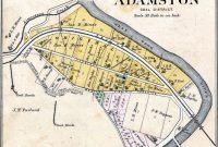 Map image of Adamston where the Mayes Family lived