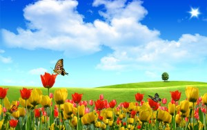 Flower Landscape Wallpaper Get