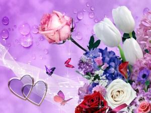 Flowers On Wallpaper