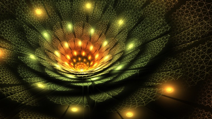 3D fantastic abstract flowers hd wallpapers for laptop