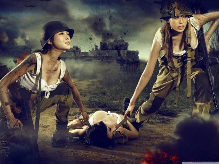 Army Girl Wallpaper