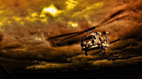 Army Helicopter High Resolution