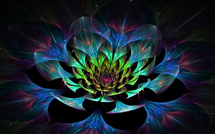 Flower 3d abstract art hd wallpaper for mac