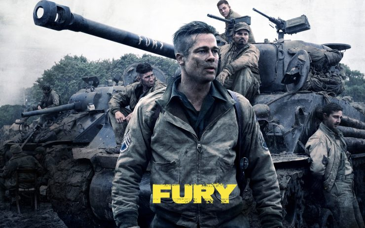 Fury Army Soldier War Movie Wallpaper HD Desktop Mobile
