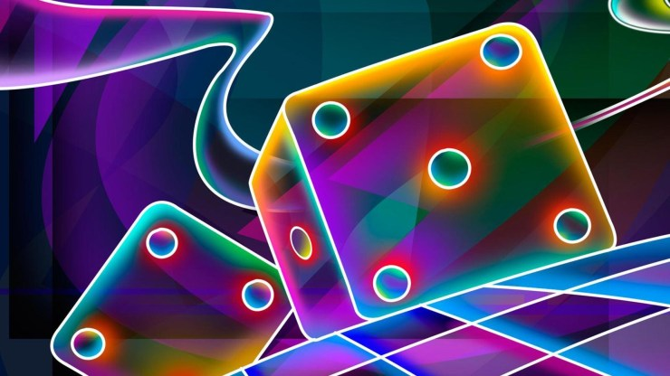 Ultra neon dice 3d wallpaper hd for android