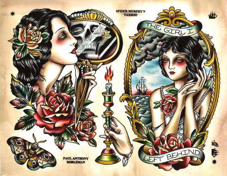 old Bad Girl Tattoo Wallpaper