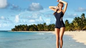 beach girl wallpaper