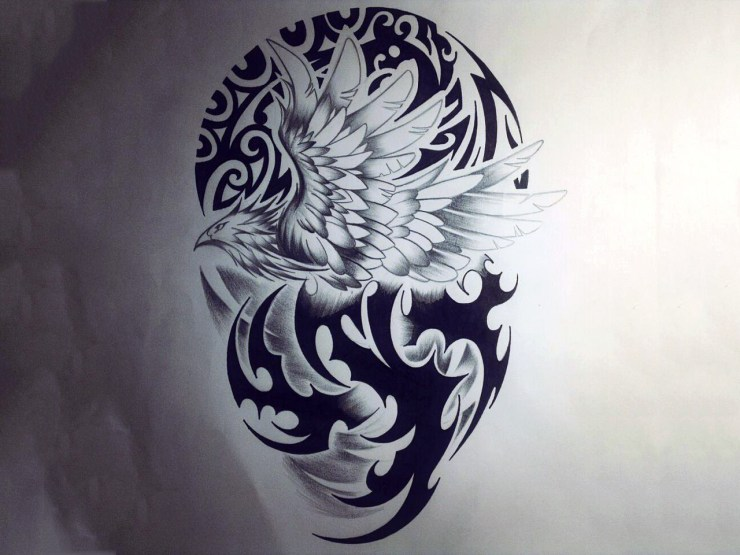 phoenix tribal tattoo wallpaper deded