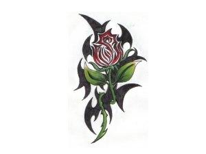 tribal around the rose tattoo wallpaper hd