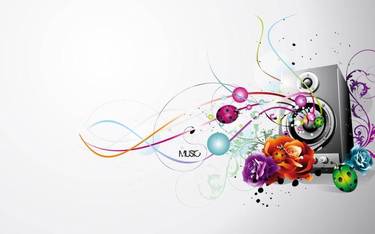 abstract music wallpaper