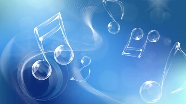 blue music wallpaper