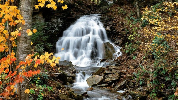 allegheny mountains waterfall wallpaper