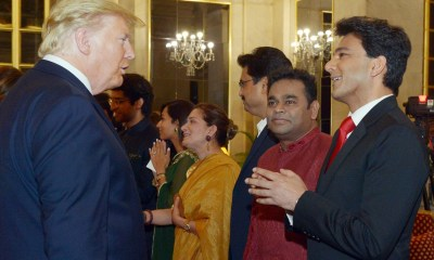 Donald Trump, Vikas Khanna and A. R. Rahman in 4th July