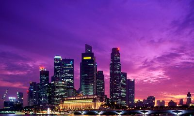 beautiful sunset in singapore wallpaper