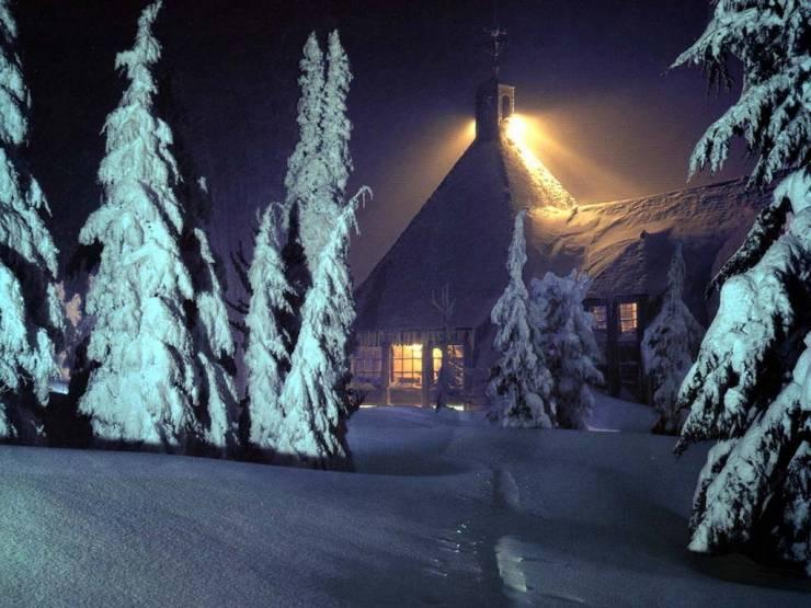 HD Winter scenery wallpaper Desktop 1024p
