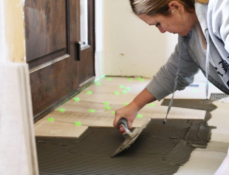 how to tile your floor to create a