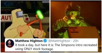Intro de Los Simpson recreada usando solo material de stock