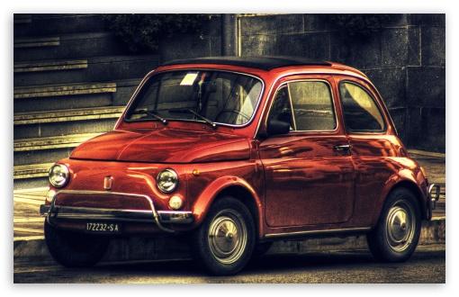 Fiat 500 Vintage HDR Ultra HD Desktop Background Wallpaper