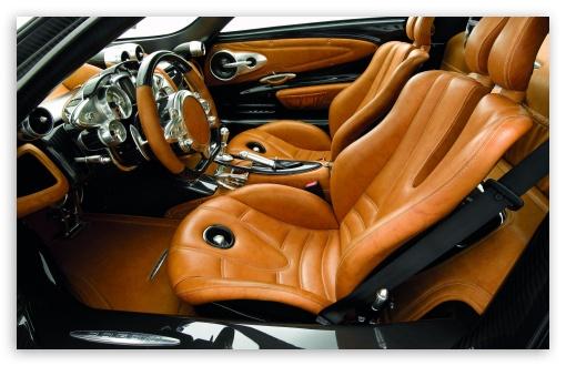 Pagani Huayra Drivers Side Interior 4K HD Desktop