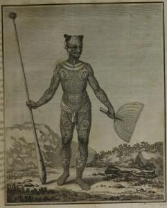 Tatuagem tradicional de habitante de Nukuhiwa. Biblioteca Brasiliana Guita e José Mindlin - USP, acesso em 03-julho-2013