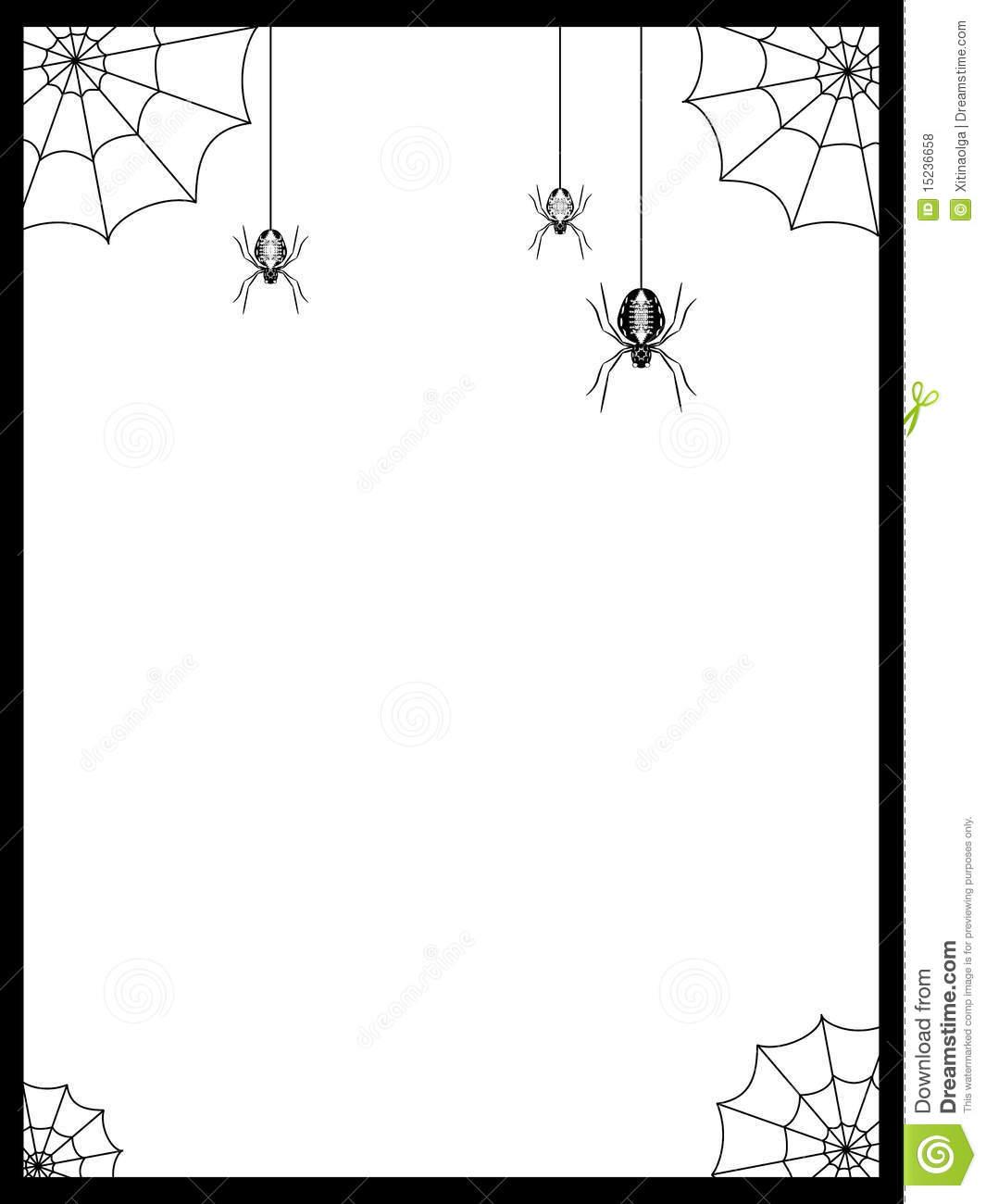11 Spider Web Border