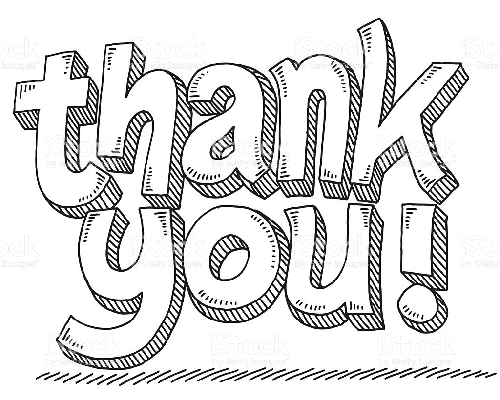 12 Thank You Clipart Black And White