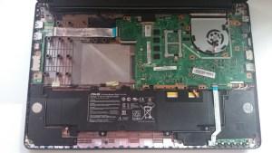 Ноутбук ASUS X502C на запчасти, батарея, мат.плата, шлейфы, шарниры, панели, корпус, система охлаждения, кулер, порты и т.д.
