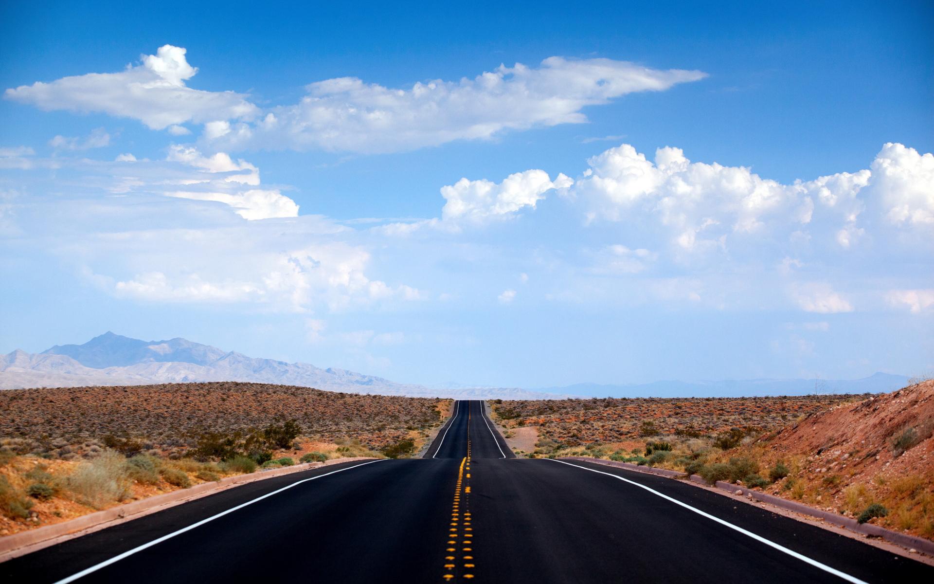Nevada Desert Road HD Desktop Wallpapers 4k HD