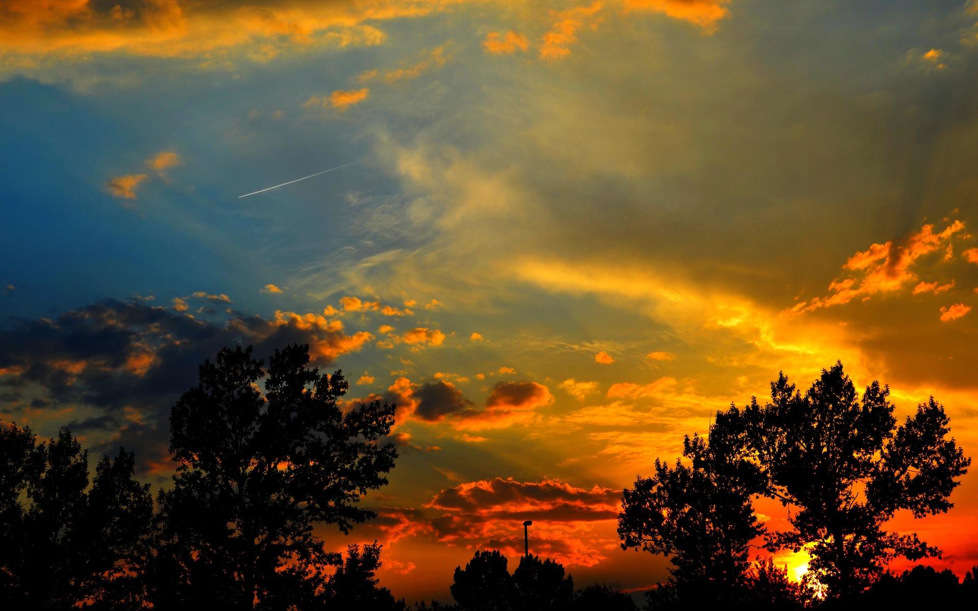 Sunset Silhouette Nature HD Desktop Wallpapers 4k HD
