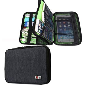 BUBM Waterproof Handbag Double Layer Travel Gear Organizer