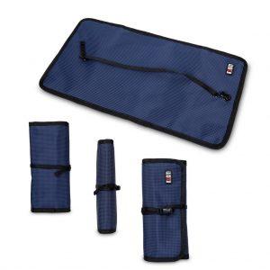 Foldable electronics accessory bag