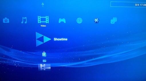PS3 main menu