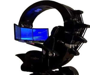 Gaming chair with monitors
