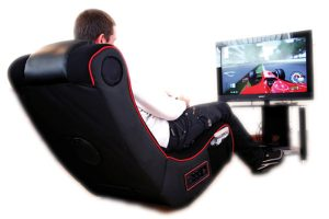 gaming on gaming chair