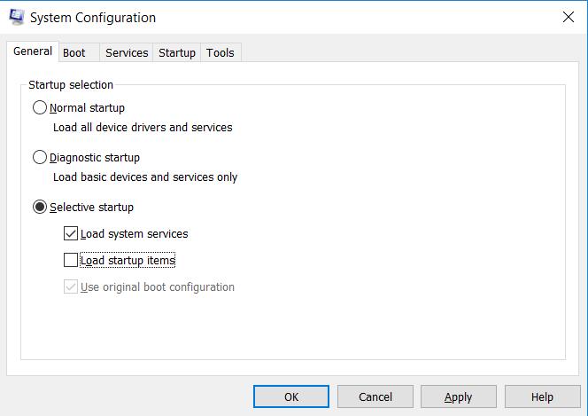 System configuration