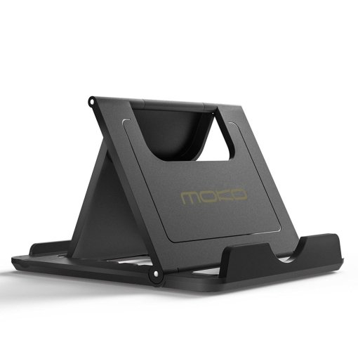 Moko Tablet Stand with Fold-Up Rubber Holder