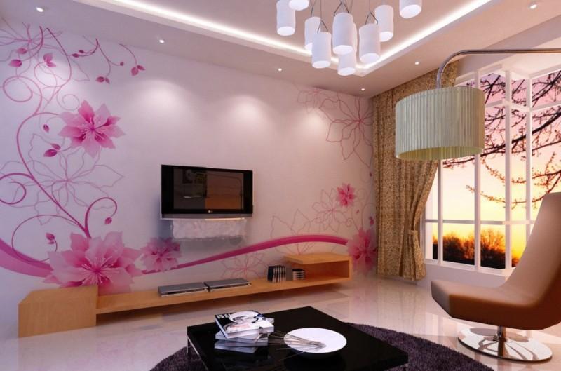 Delightful Flower Wallpaper Living Room 29 Free Hdflowerwallpaper Com Part 19