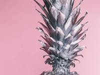 single pineapple wallpapers silver color