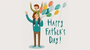 father with kids beautiful balloons wallpapers