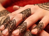 Henna (Mehndi) Design to Cover Quarter Portion of Fingers